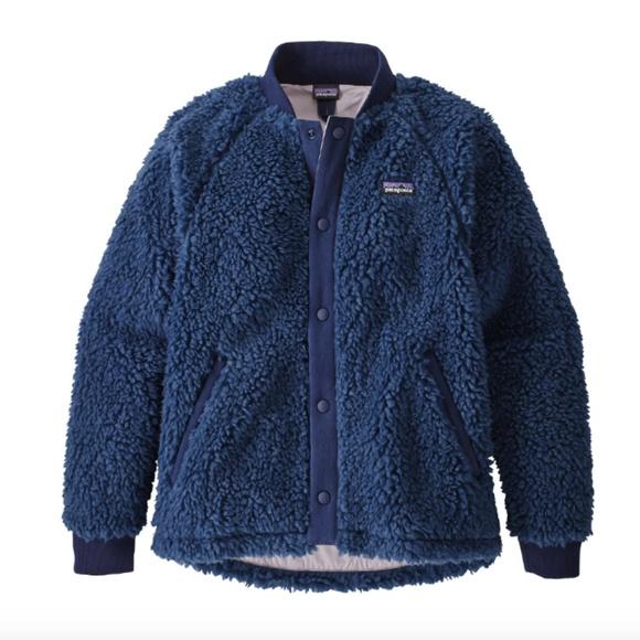 61db70f64 NWT! Patagonia Girls' Retro Fleece Bomber Jacket
